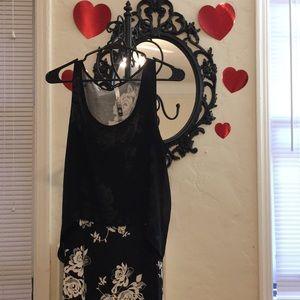 Kensie Floral B&W Maxi Dress